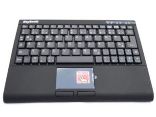 The Keysonic ACK-540RF+ wireless keyboard with combined touchpad.