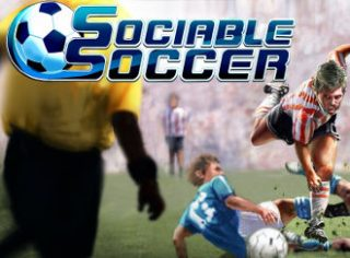 The title screen from Sociable Soccer.