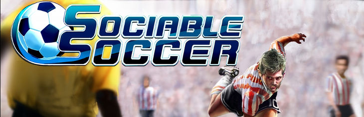 The Sociable Soccer title screen.