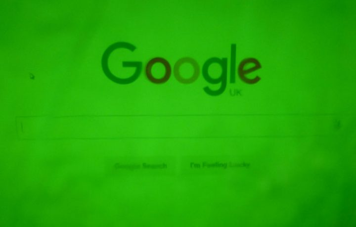 Green screen Google using sweet wrappers.