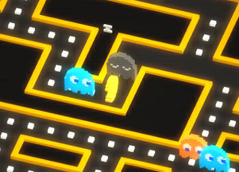A screenshot from Pac Man 256 by Hipster Whale.