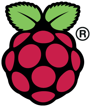 The Raspberry Pi Logo.