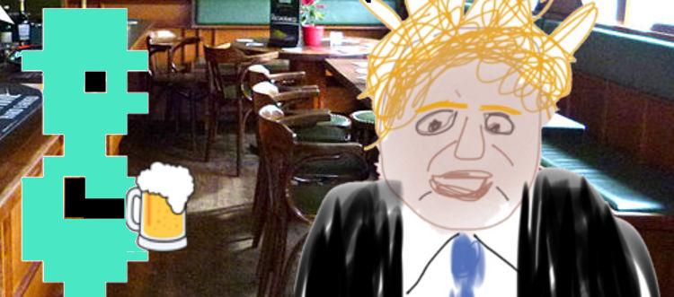 A cartoon with Jet Set Willy and Boris Johnson.