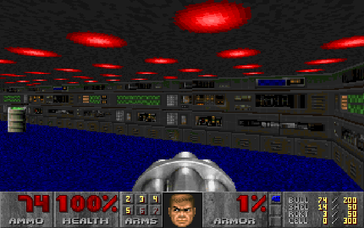 A screenshot from Doom Shareware.