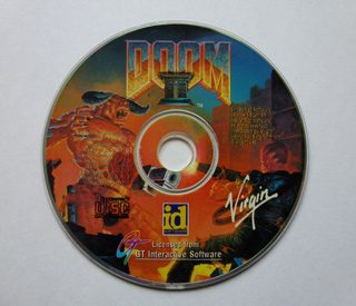 The Doom 2 CD ROM.