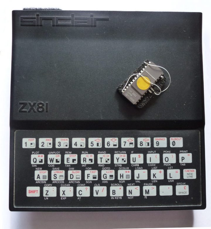 A Sinclair ZX81 with ROM chip.