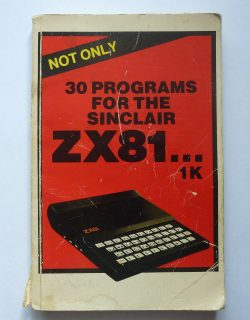 Not Only 30 Programs for the ZX81 by Melbourne House/Beam Software.
