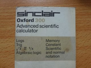Instruction manual for the Sinclair Oxford 300 calculator.