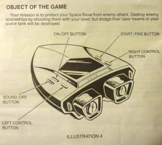 The instruction leaflet from Tomytronic's 3d Sky Attack