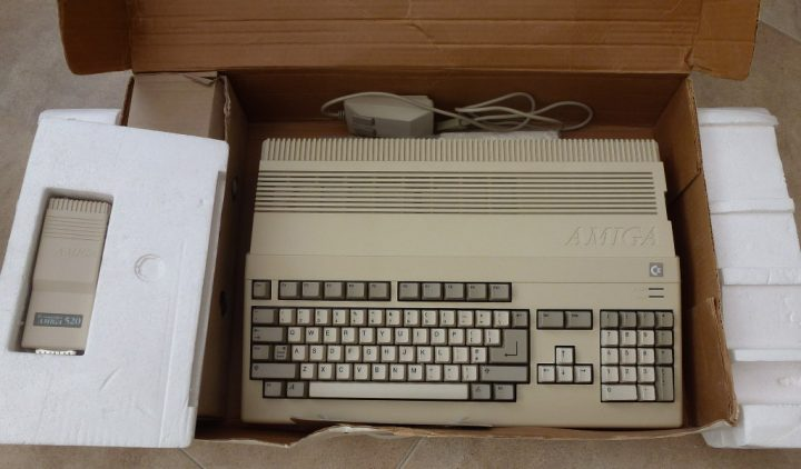 An Amiga 500 fresh from eBay, what a beauty.