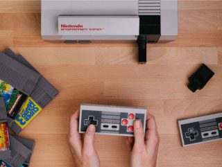 Wireless controllers on the NES.
