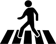 stickman crossing road
